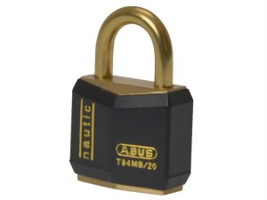 T84MB/20 20mm Black Rustproof Padlock Carded