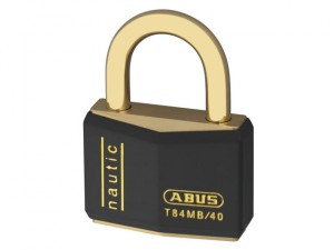 T84MB/40 40mm Black Nautic Rustproof Padlock