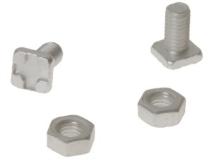 GH004 Square Glaze Bolts & Nuts Pack of 20
