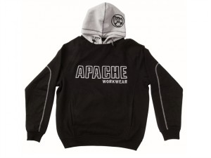 Hooded Sweatshirt Black / Grey - M (42in)