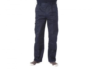 Navy Industry Trousers Waist 34in Leg 31in