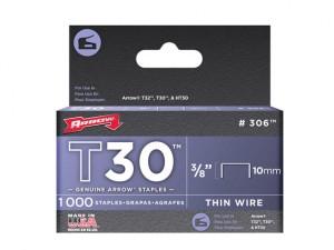 T30 Staples 306IP 10mm (3/8in) Box 5000