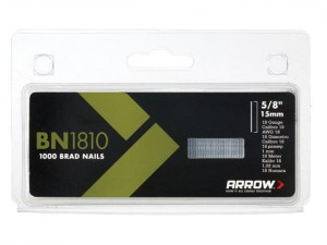 BN1810 Brad Nails 15mm Pack 1000