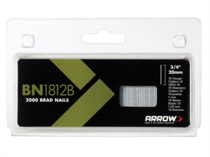 BN1812B Brad Nails 20mm Brown Head Pack 2000
