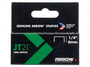 JT21 T27 Staples 6mm (1/4in) Box 1000