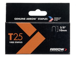 T25 Staples 10mm (3/8in) Box 1000