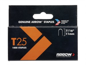 T25 Staples 11mm (7/16in) Box 5000