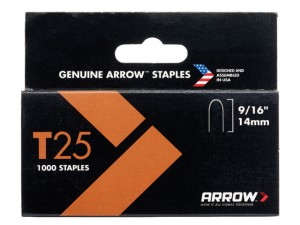 T25 Staples 14mm (9/16in) Box 5000