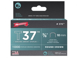 T37 Staples 10mm (3/8in) Box 1000