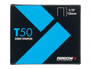 T50 Staples 12mm (1/2in) Bulk Pack 5000