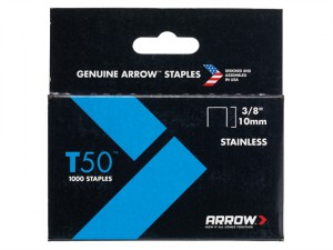 T50 Staples Stainless Steel 506SS 10mm (3/8in) Box 1000