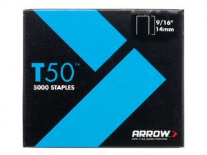 T50 Staples 14mm (9/16in) Pack 5000 (4 x 1250)