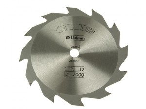 Circular Saw Blade 184 x 16mm x 12T Fast Rip