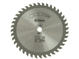 Circular Saw Blade 184 x 16mm x 40T Fine Cross Cut