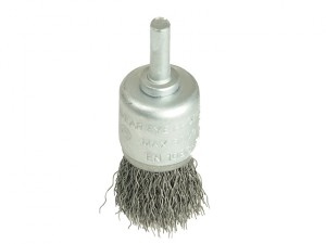 X36025 Wire Cup Brush 25mm x 6mm Shank