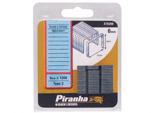 X70206 Flat Wire Staples 6mm Pack 1200