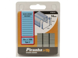 X70214 Flat Wire Staples 14mm Pack 1200