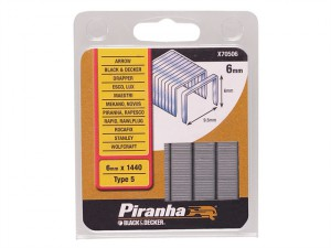 X70506 Narrow Crown Staples 6mm Pack 1440