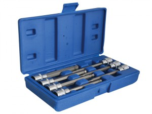 3/8in Drive Extra Long Hex Ball Socket Bit Set, 7 Piece