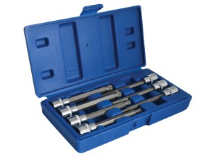 Extra Long 3/8in Square Drive Spline Bit Sockets 7 Piece