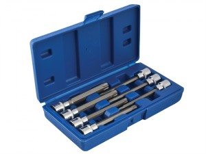 Extra Long 3/8in Square Drive Torx Bit Sockets 7 Piece