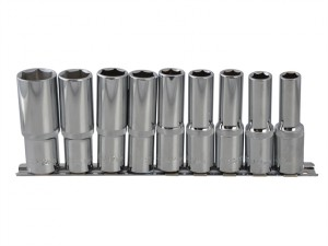 Deep Socket Set of 9 Metric 1/2in Square Drive
