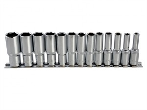 Deep Socket Set of 13 Metric 3/8in Square Drive