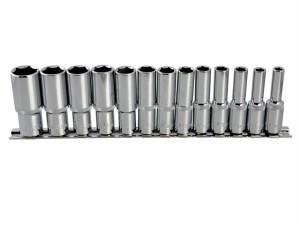 Deep Socket Set of 13 Metric 3/8in Square Drive