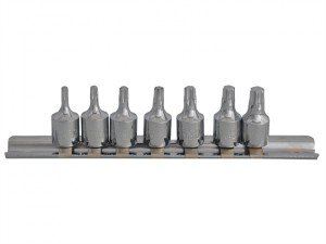 Torx Socket Set of 7 1/4in Square Drive