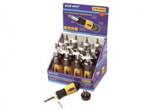 Ratcheting Screwdriver 7 in 1 Display of 12