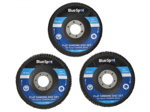 Sanding Flap Disc Set 3 Piece 115mm (4.1/2in)
