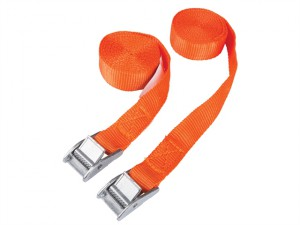 Cam Buckle Tie Down Straps Twin Pack 2.5m