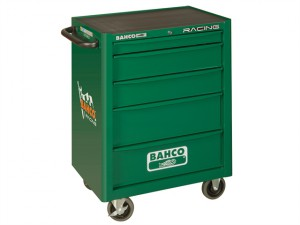 Racing Green 5 Drawer Tool Trolley With Inlays & Tools