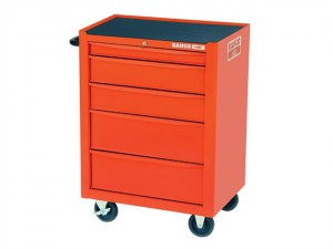 Orange 5 Drawer Tool Trolley With Inlays & Tools