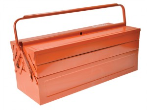 Orange Metal Cantilever Tool Box 21in