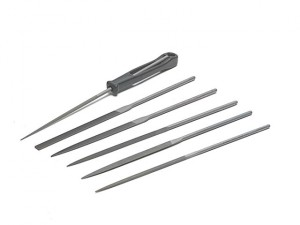 Needle File Set of 6 Cut 2 Smooth 2-470-16-2-0 160mm (6.2in)