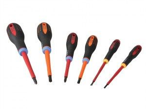 Mixed Insulated ERGO™ Screwdriver Set of 6 SL/PZ