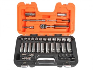 S330L Socket Set of 53 Metric 1/4in & 3/8in Deep Drive