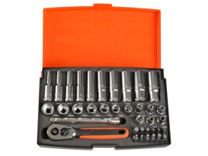 SL25L Socket Set of 37 Metric 1/4in Deep Drive