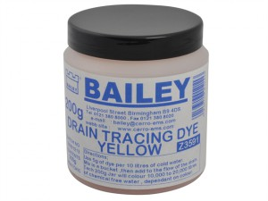 3591 Drain Tracing Dye - Yellow