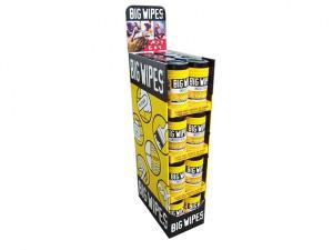 Black Top Multi-Purpose Wipes 80 1/8 Pallet Display 32 Tub