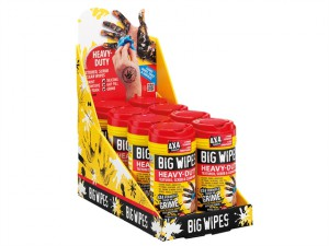 4x4 Heavy-Duty Cleaning Wipes CDU 16 x Tub of 80