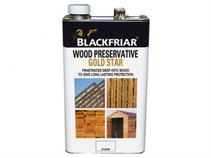 EXT Wood Preserver Gold Star Clear 5 Litre