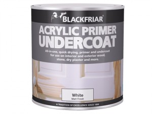 Quick Drying Acrylic Primer Undercoat White 1 Litre