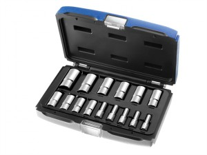 Deep Socket Set of 15 Metric 3/8in Drive