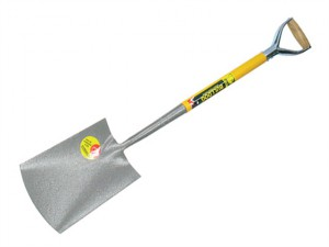 All Steel Digging Spade Treaded