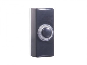 7720 Wired Doorbell Additional Illuminated Chime Bell Push Black