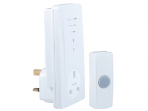 B306 Wireless Doorbell with Plug Through Chime 50m