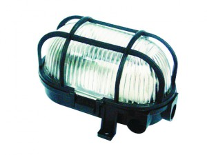 BE60Z Wall Mounted Plastic Light Black - No Bulb