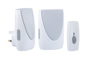 BY212 Wireless Doorbell Kit with Portable & Plug In Chimes 100m